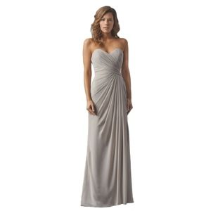 NWT Watters Long Bridesmaid Dress In Sandstone  10